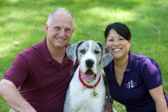 Owners John and Katy with their dog Ryder