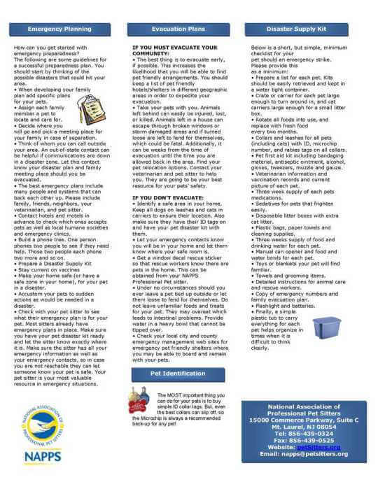emergency planning quick reference guide, page 2